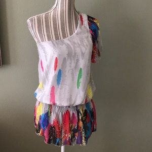 TRAC single shoulder colorful top